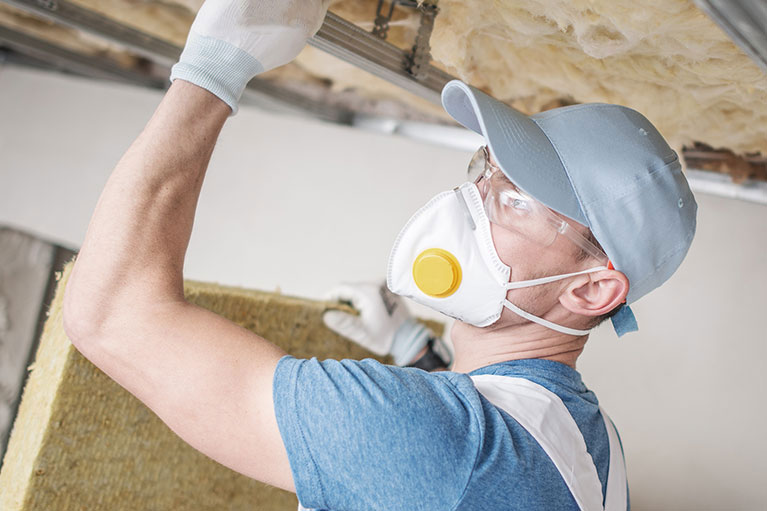 insulation contractor at work